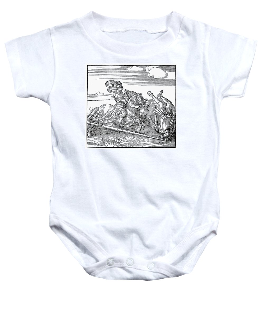 1517 Baby Onesie featuring the photograph Knights: Jousting, 1517 by Granger