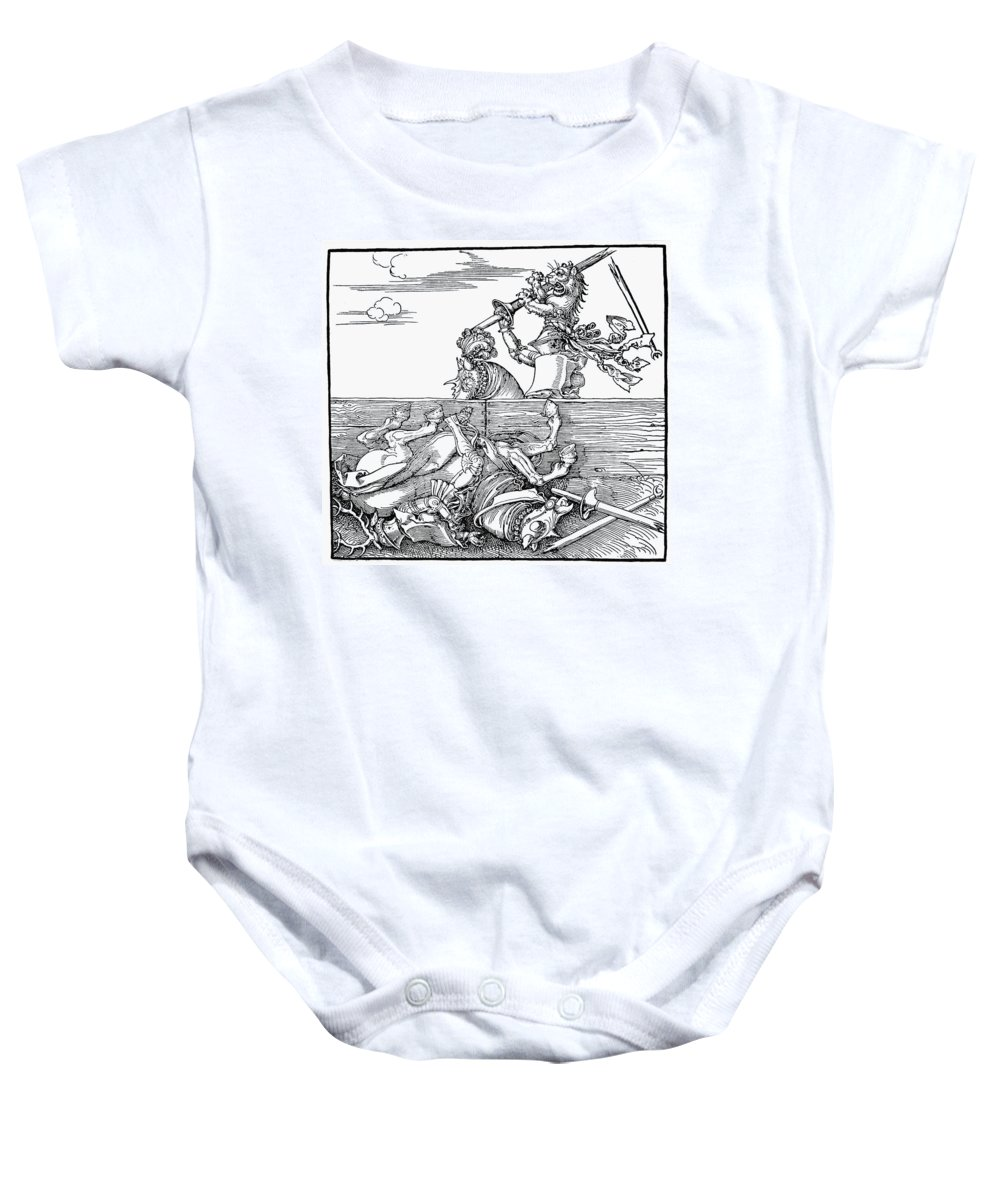 1517 Baby Onesie featuring the photograph Knights: Tournament, 1517 by Granger