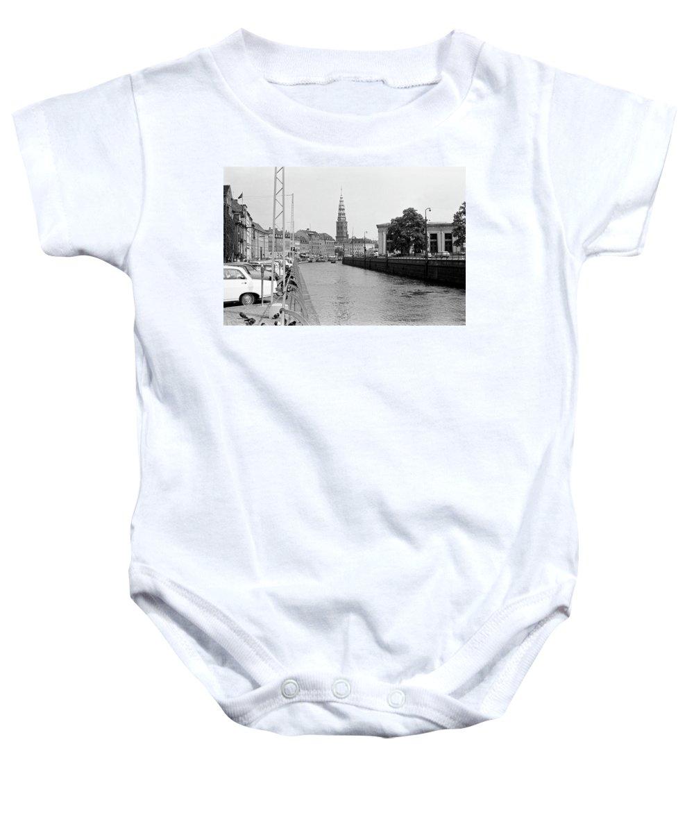 Copenhagen Baby Onesie featuring the photograph Kobenhavn Kanal by Lee Santa