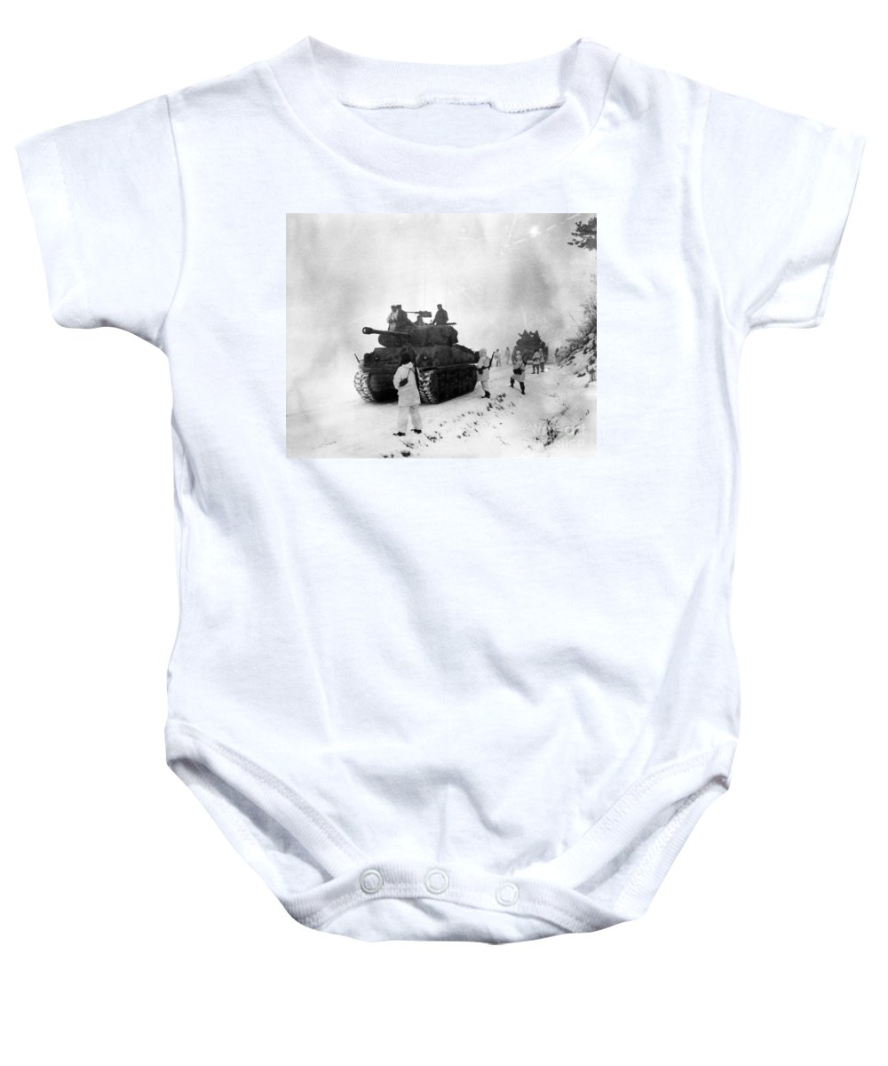 1951 Baby Onesie featuring the photograph Korean War: Allied Forces by Granger