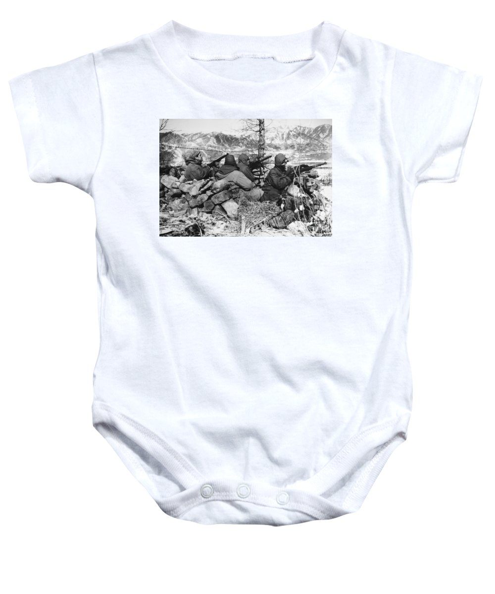 1950 Baby Onesie featuring the photograph Korean War: Soldiers by Granger