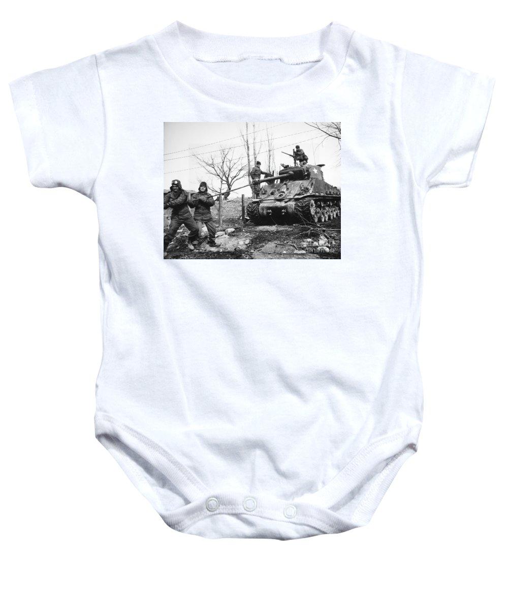 1951 Baby Onesie featuring the photograph Korean War: Tank, 1951 by Granger