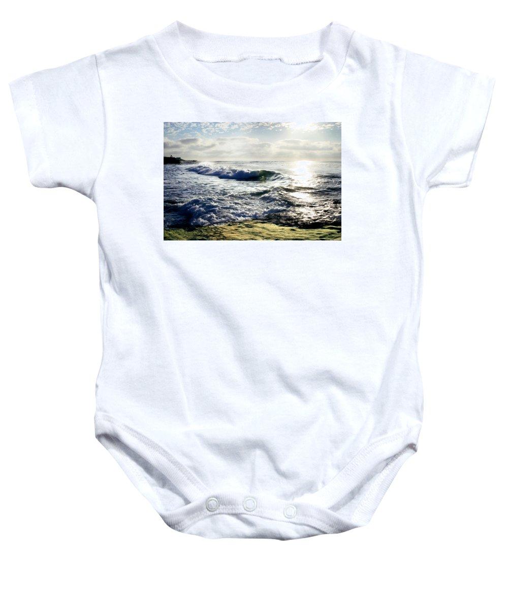 Beach Baby Onesie featuring the photograph La Jolla Towards Casa Cove by Anthony Jones