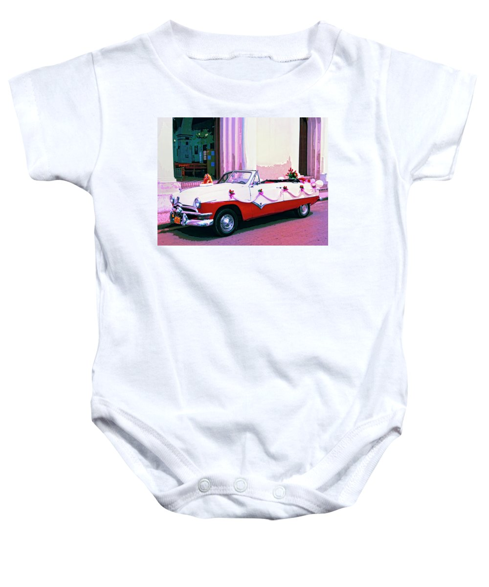 La Princesa Baby Onesie featuring the mixed media La Princesa by Dominic Piperata
