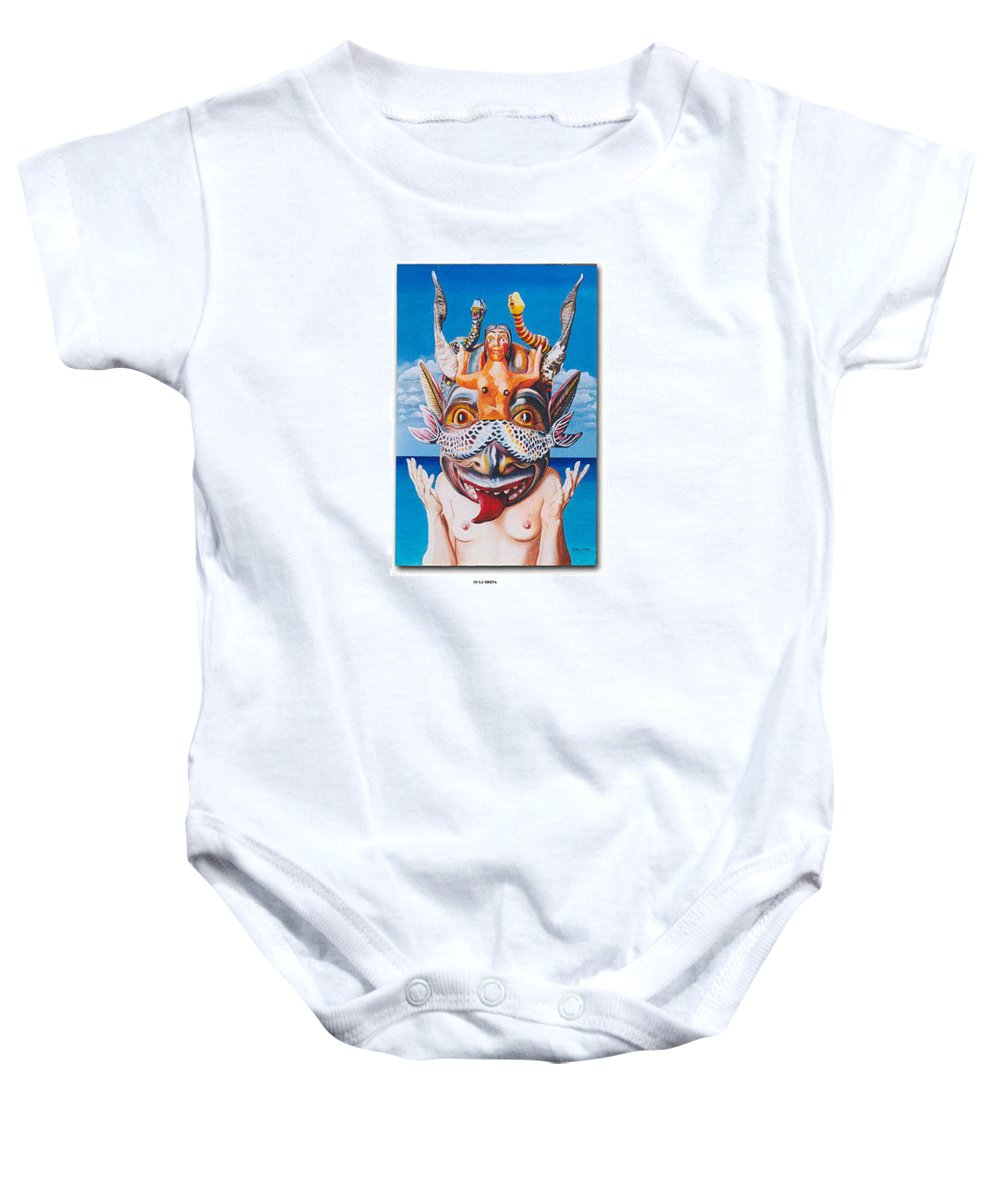 Hyperrealism Baby Onesie featuring the painting La Sirena by Michael Earney
