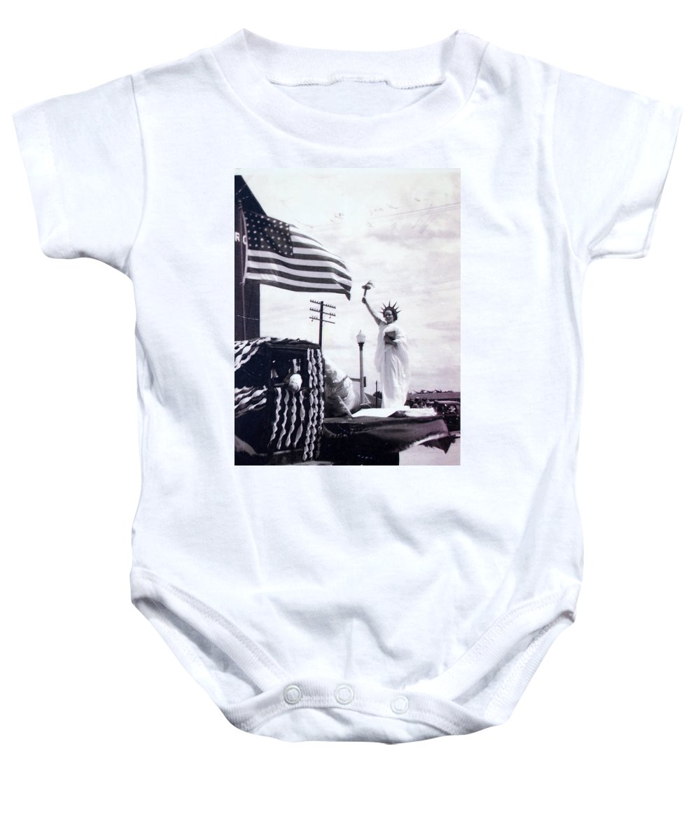4th Of July Baby Onesie featuring the photograph Lady Liberty by Kurt Hausmann