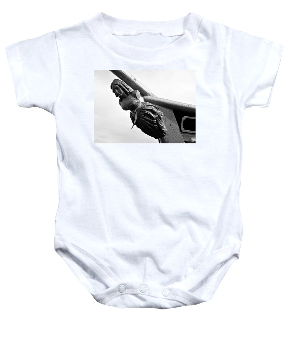 Fine Art Photography Baby Onesie featuring the photograph Lady Of Gasparilla by David Lee Thompson