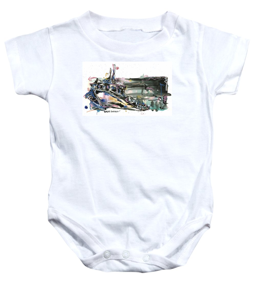 Seascape Baby Onesie featuring the painting Lady Sherbert by Robert Joyner