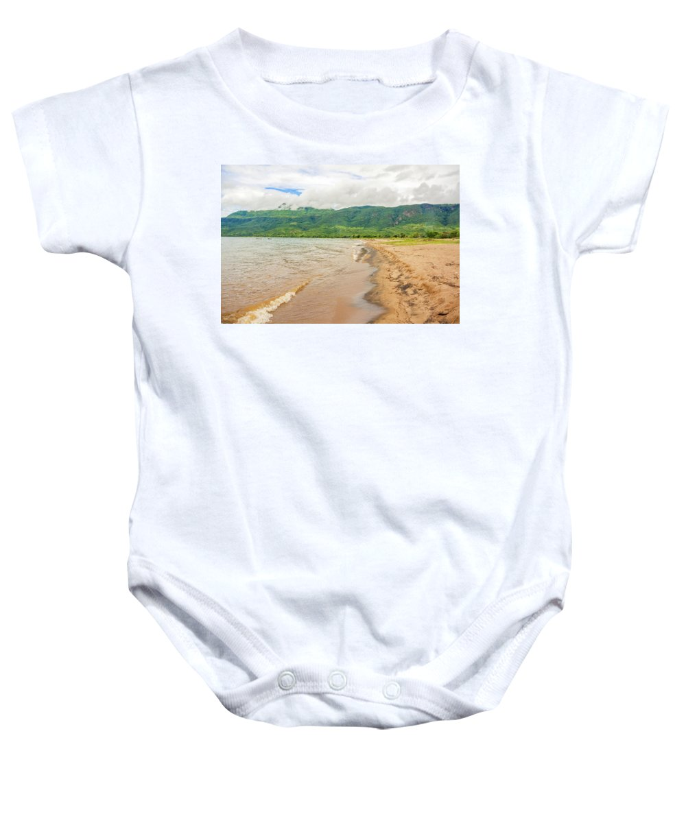 Lake Baby Onesie featuring the photograph Lake Malawi At Chitimba Beach by Marek Poplawski