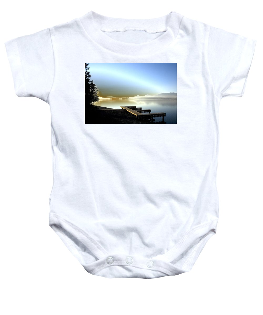Landscape Baby Onesie featuring the photograph Lake Pend D'oreille Fantasy by Lee Santa