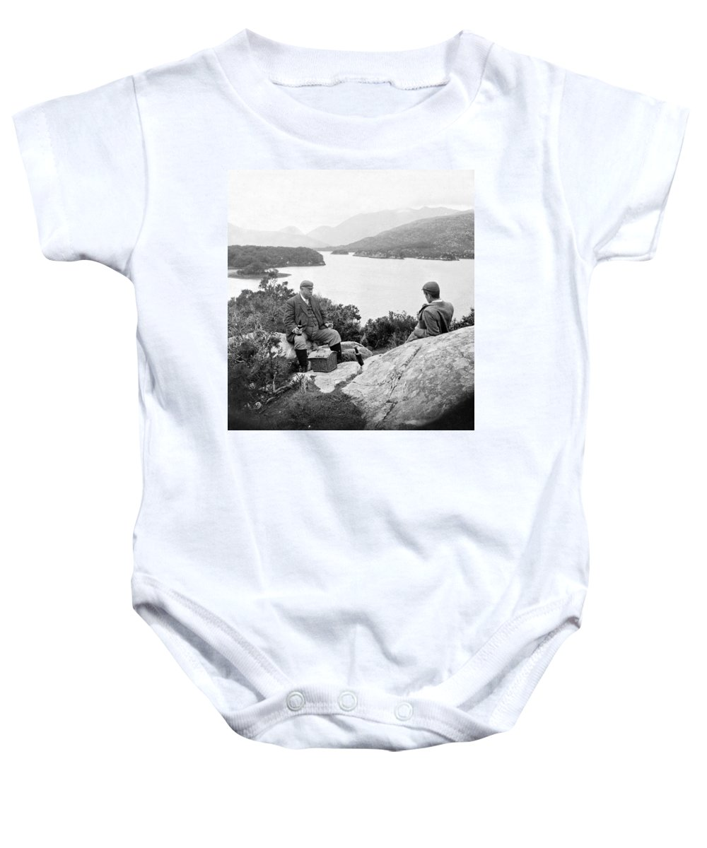 Killarney Baby Onesie featuring the photograph Lakes Of Killarney - Ireland - C 1896 by International Images