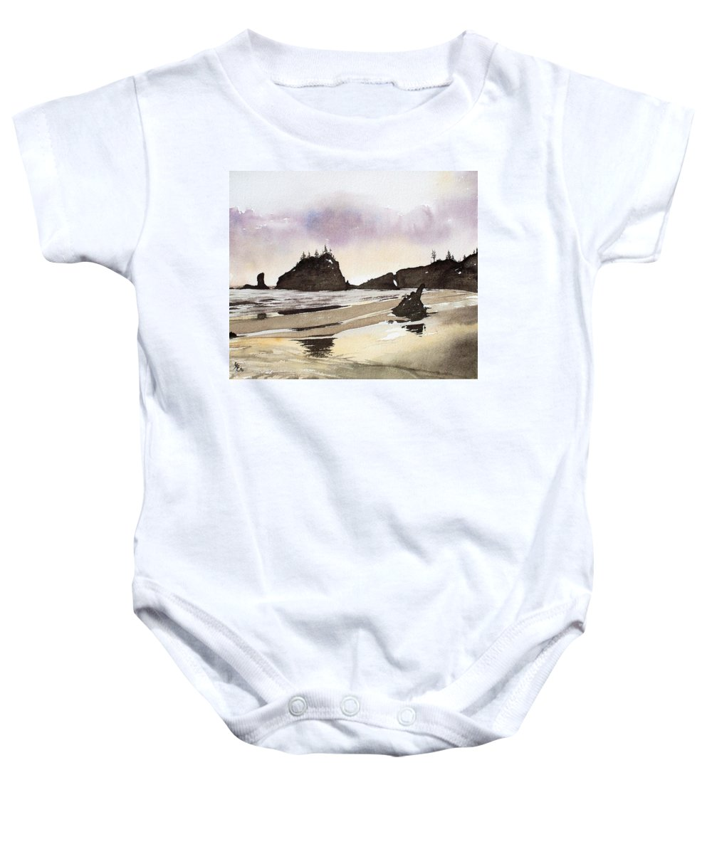 Washington Baby Onesie featuring the painting Lapush by Gale Cochran-Smith