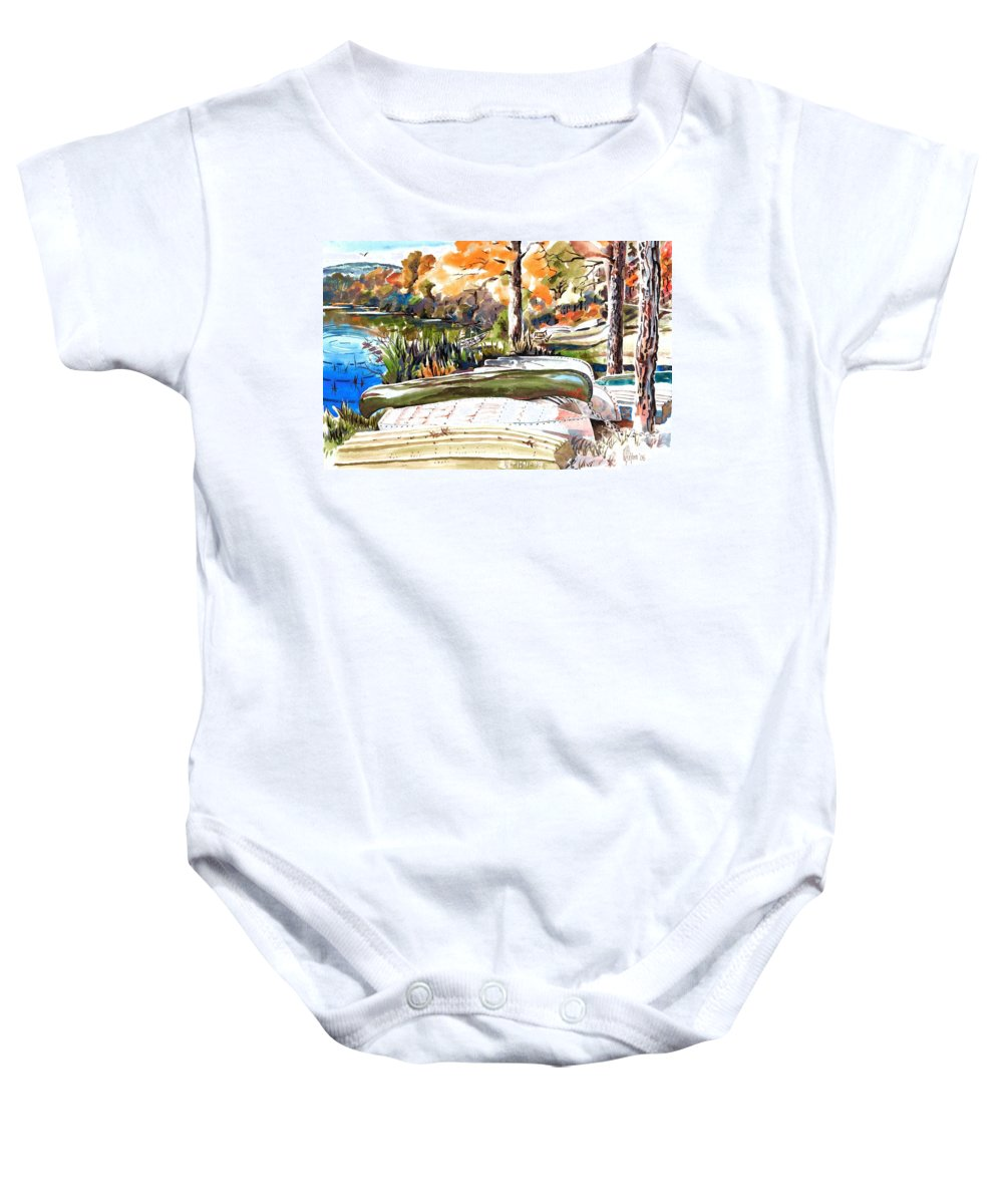 Last Summer In Brigadoon Baby Onesie featuring the painting Last Summer In Brigadoon by Kip DeVore