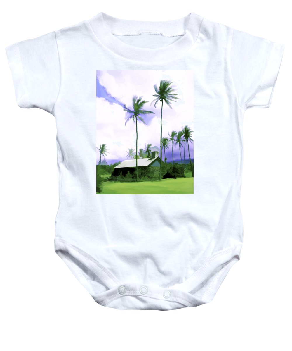 Hawaii Baby Onesie featuring the photograph Lava Rock Church by Kurt Van Wagner