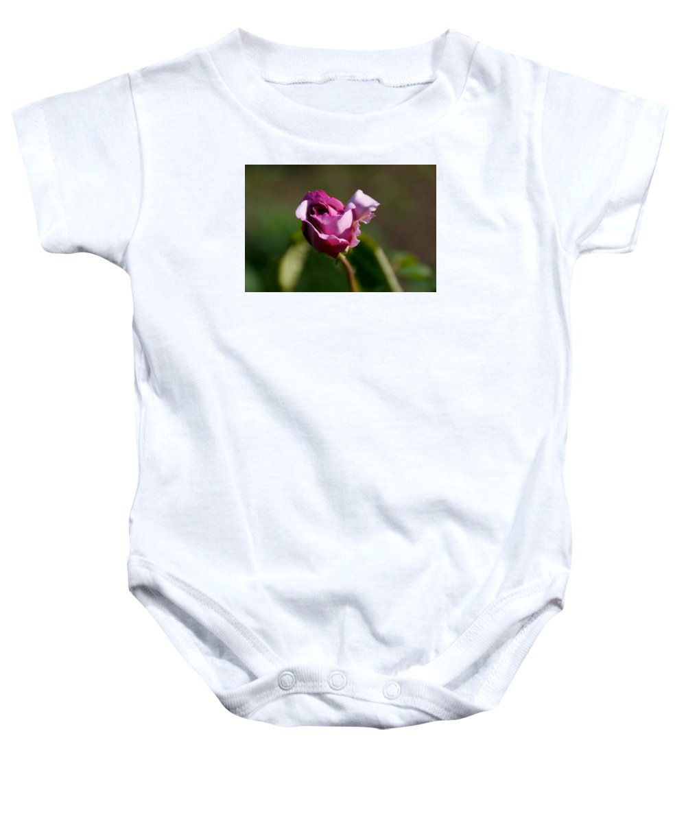 Flower Baby Onesie featuring the photograph Lavender Rose by Toni Berry