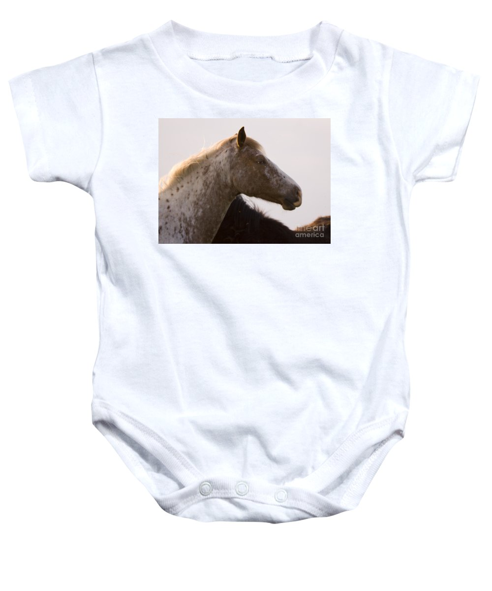 Horse Baby Onesie featuring the photograph Lazy Eye by Angel Ciesniarska
