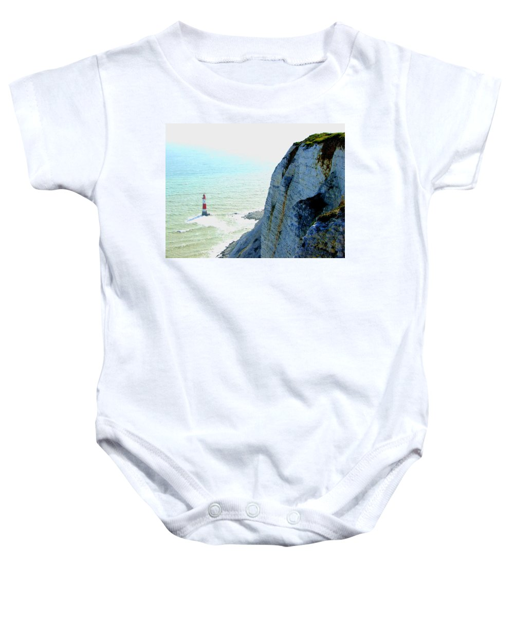 Lighthouse Baby Onesie featuring the photograph Lighthouse by Heather Lennox