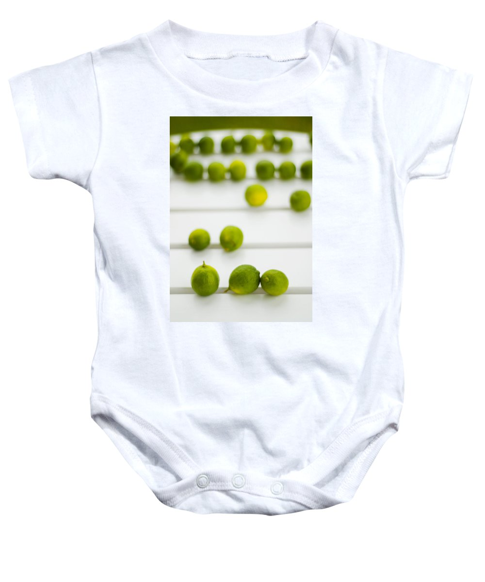 Green Baby Onesie featuring the photograph Lime Green by Skip Hunt