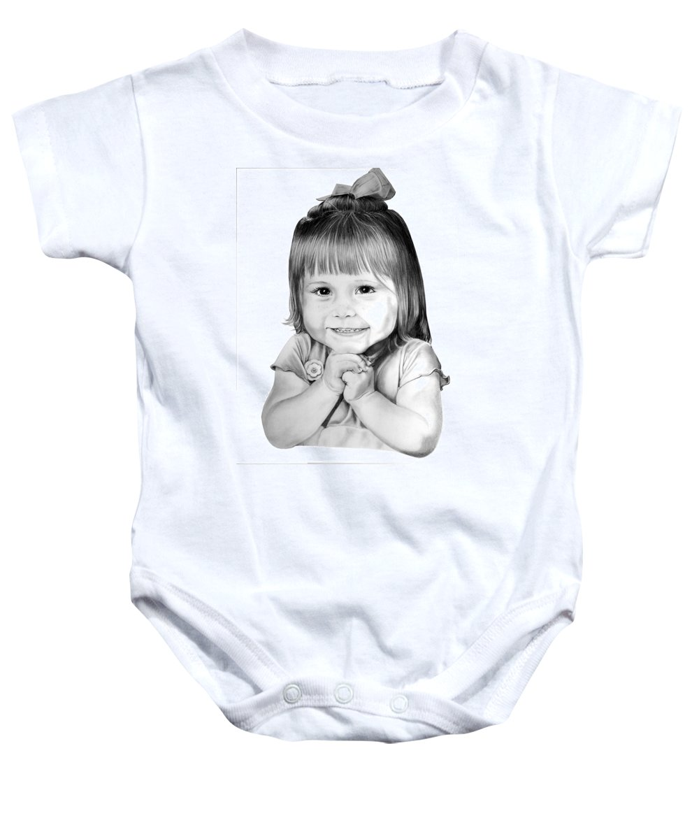 Child Baby Onesie featuring the drawing Little Bailey by Murphy Elliott