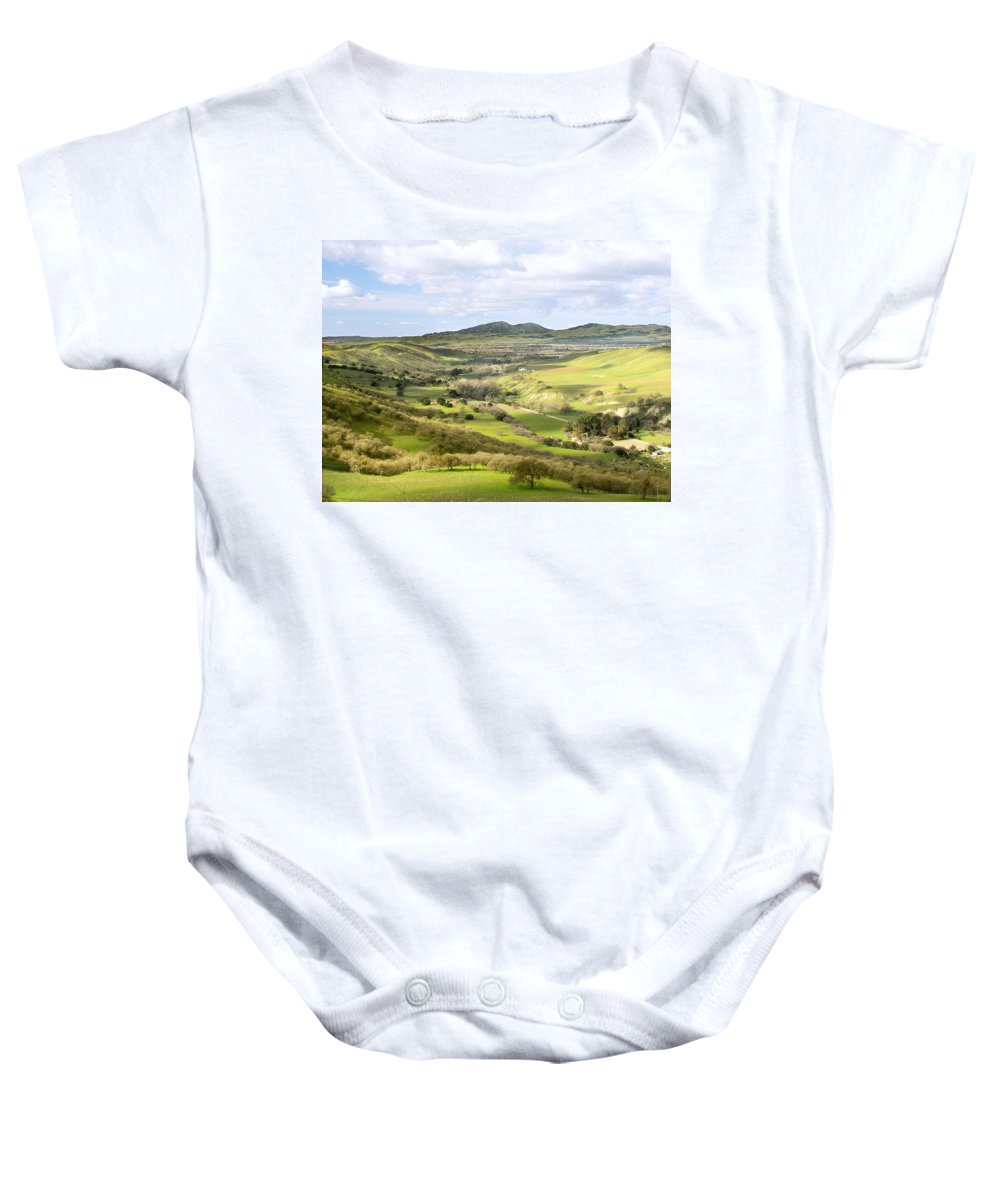 Landscape Baby Onesie featuring the photograph Livermore Valley by Karen W Meyer