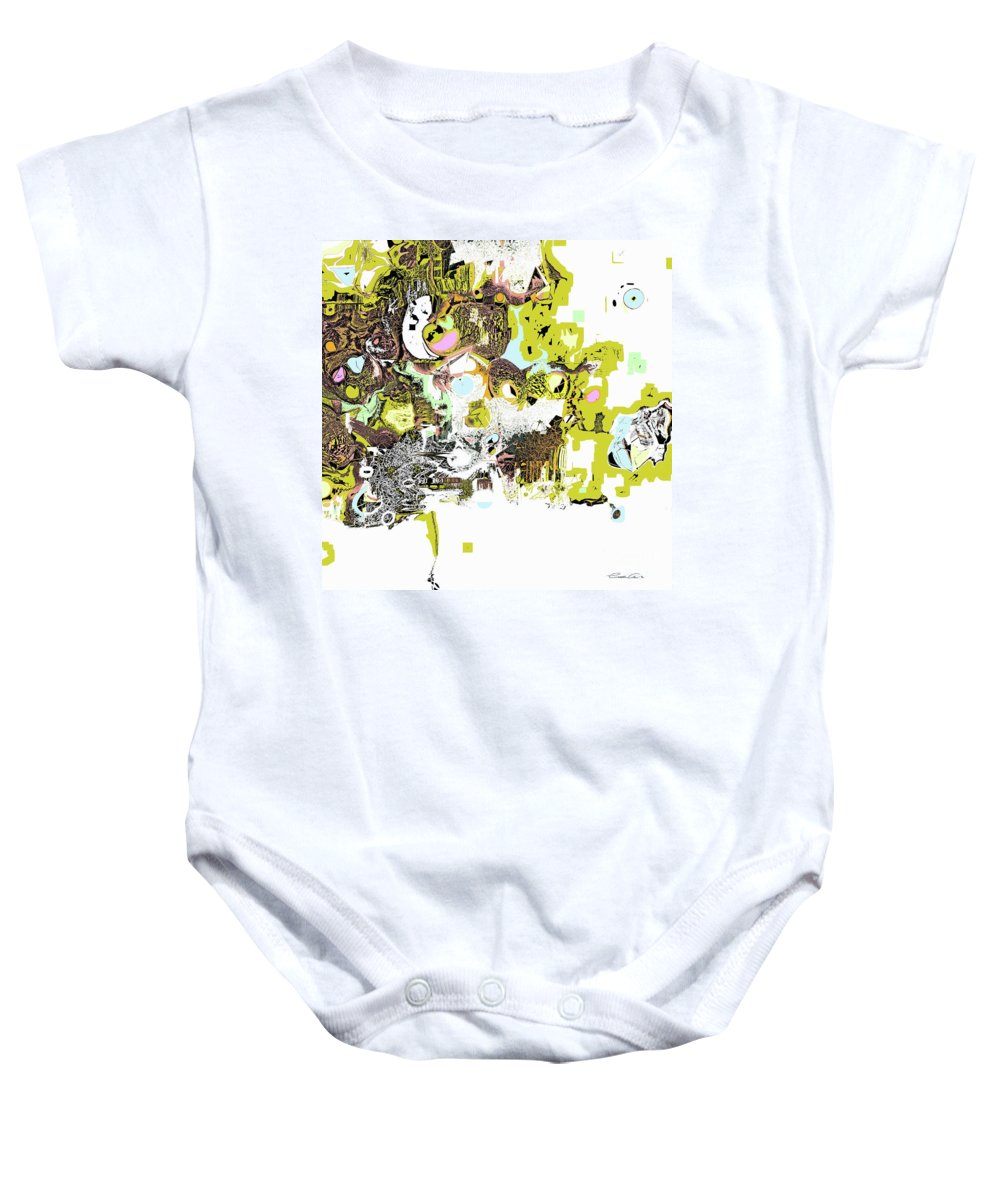 Abstract Baby Onesie featuring the digital art Living by Elisabeth Skajem Atter