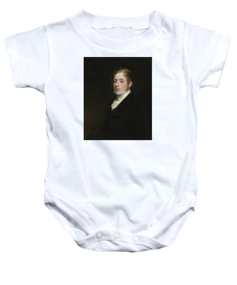 Thomas Phillips Baby Onesie featuring the painting London Portrait Of Sir Elliot Roberts by Thomas Phillips