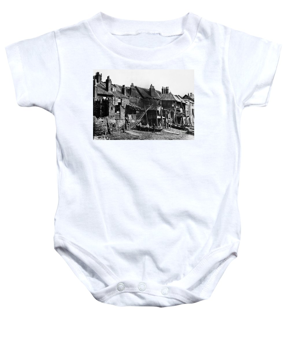 1860 Baby Onesie featuring the photograph London: Riverside, C1860 by Granger