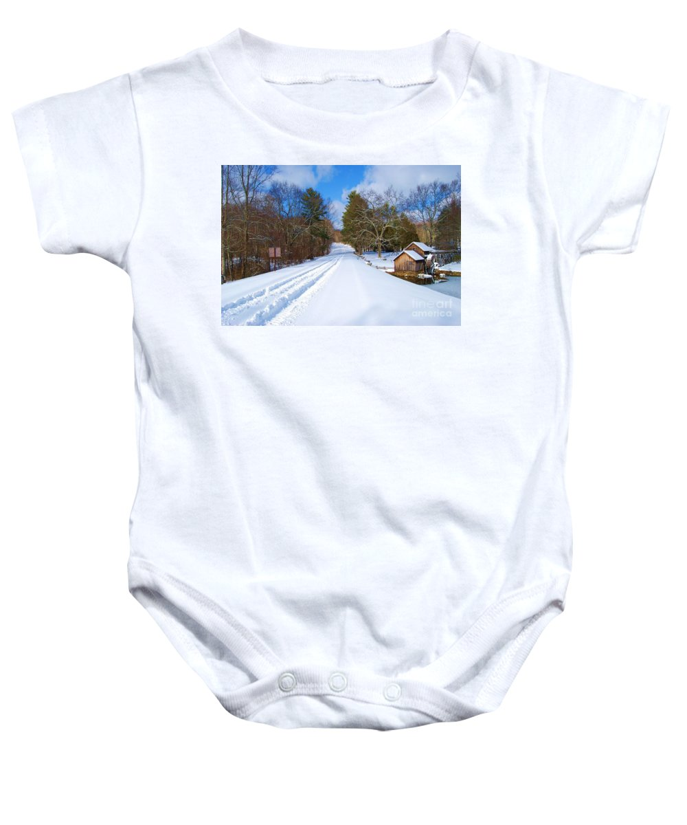 Snow Baby Onesie featuring the photograph Lonely by Eric Liller