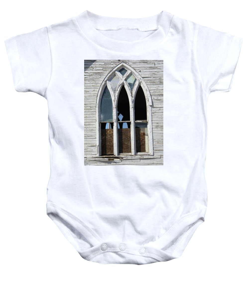 Church Baby Onesie featuring the photograph Lost by Gale Cochran-Smith