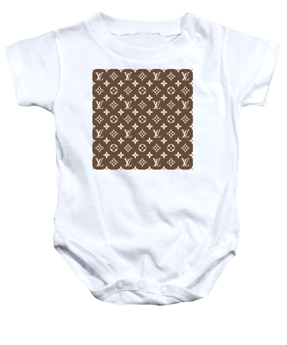 9763be7f6b078 Louis Vuitton Pattern - Lv Pattern 05 - Fashion And Lifestyle Baby Onesie