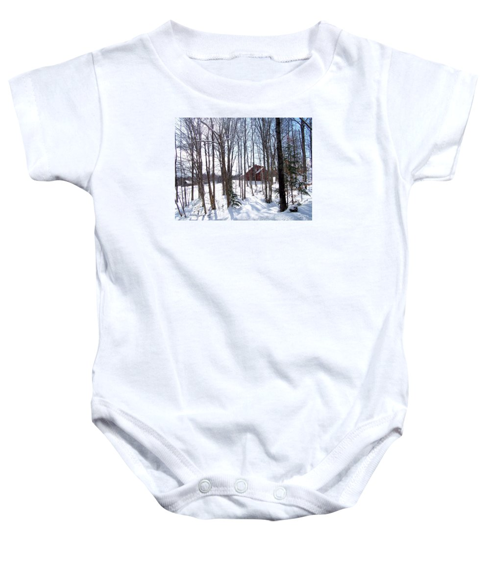 Stowe Baby Onesie featuring the photograph Louisen's Stowe 17 by Louise Haineault