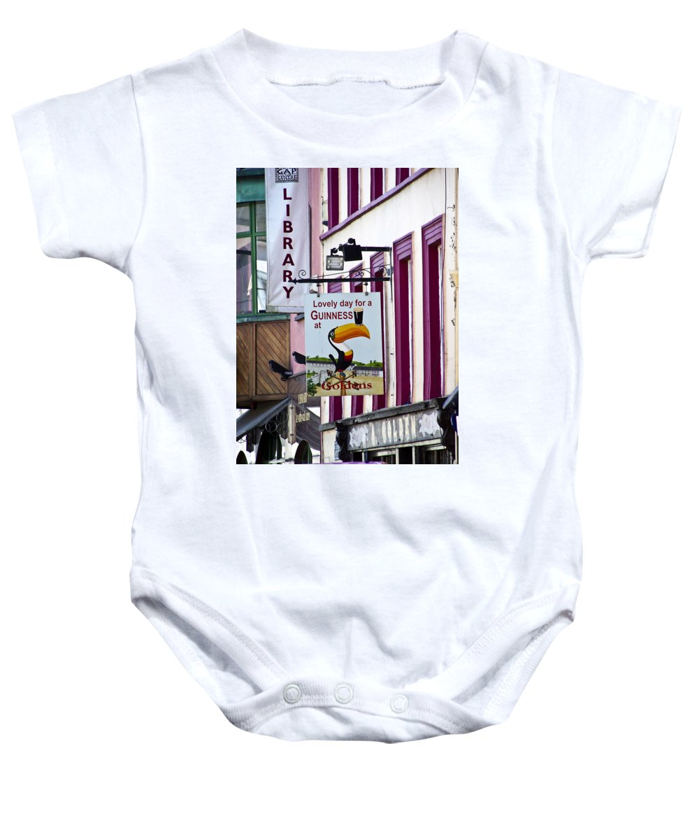 Irish Baby Onesie featuring the photograph Lovely Day For A Guinness Macroom Ireland by Teresa Mucha