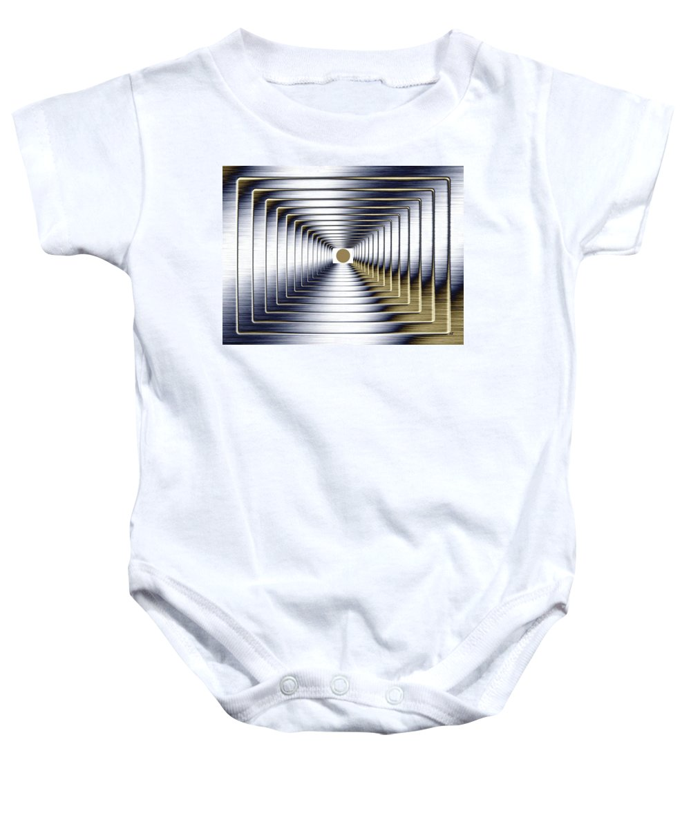 Abstract Baby Onesie featuring the digital art Luminous Energy 1 by Will Borden