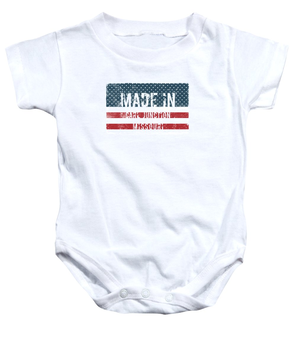 Carl Junction Baby Onesie featuring the digital art Made In Carl Junction, Missouri by Tinto Designs