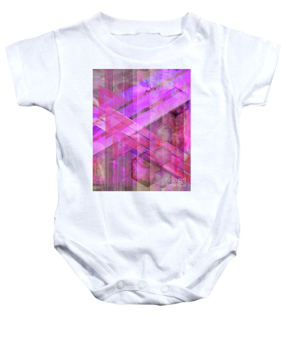 Magenta Haze Baby Onesie featuring the digital art Magenta Haze by John Beck