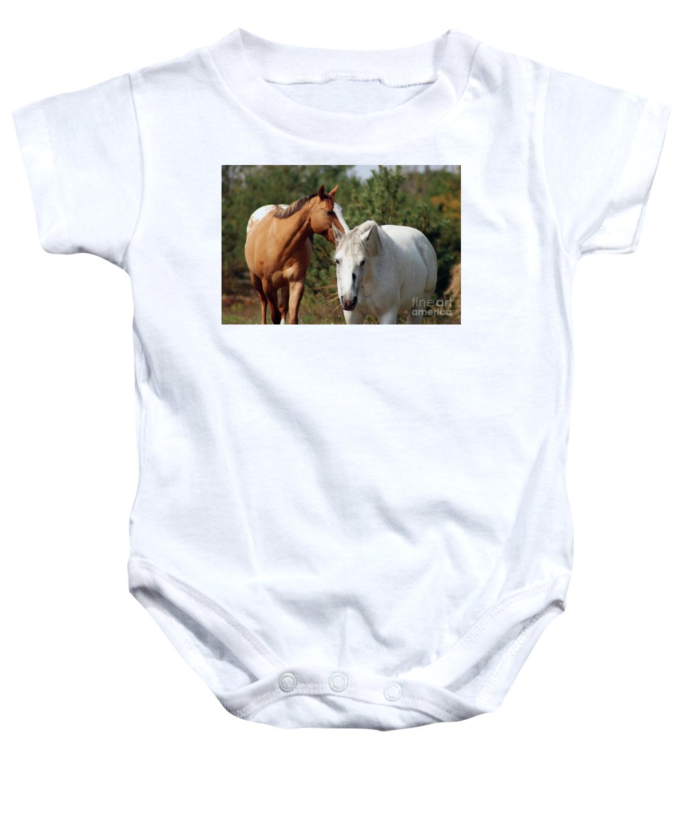 Baby Onesie featuring the photograph Majestic Horse Ride by Chris Fulton