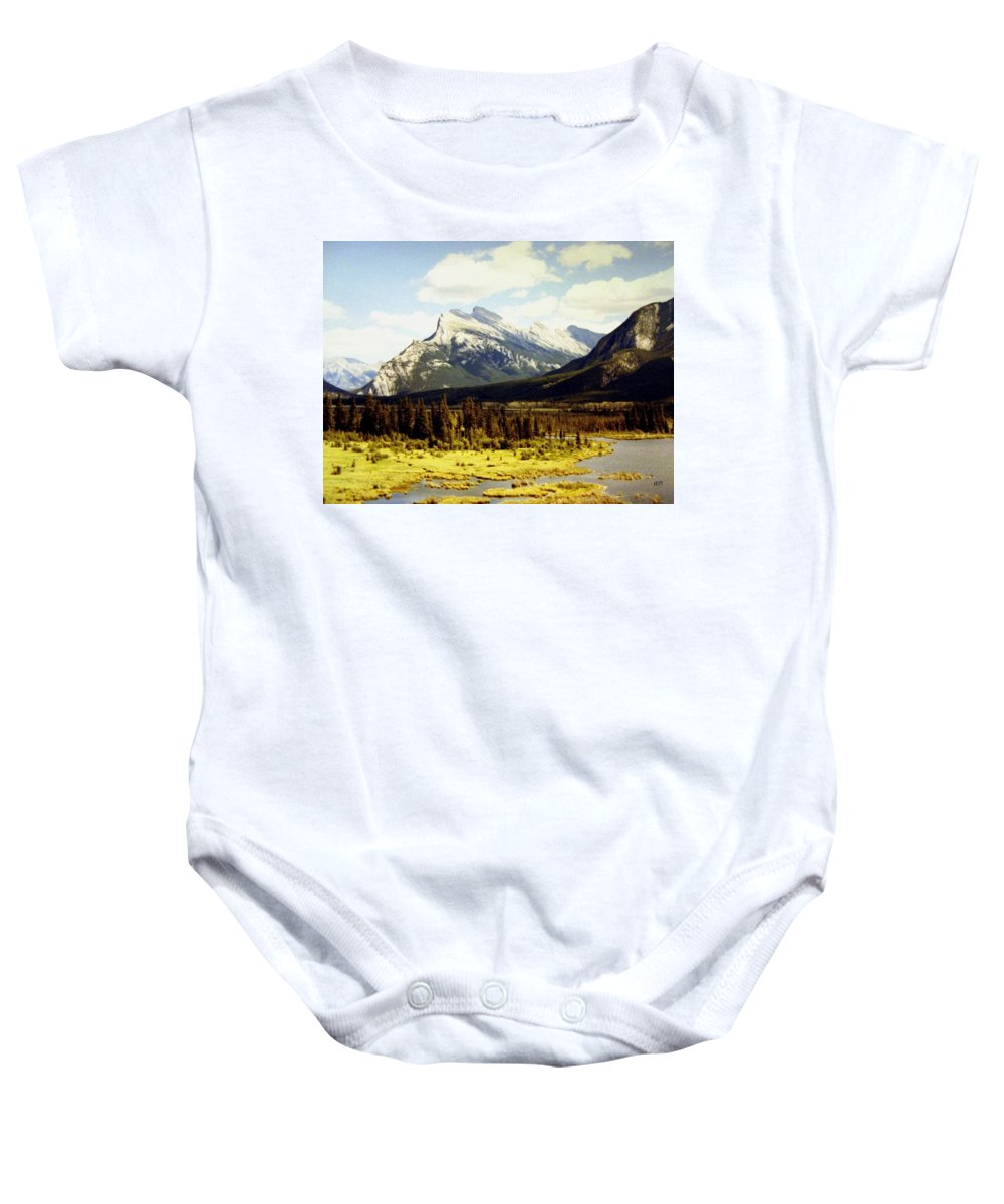 Mount Rundle Baby Onesie featuring the photograph Majestic Mount Rundle by Will Borden