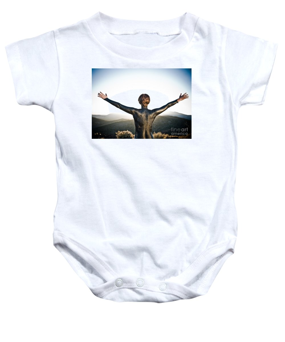 Early Sunset Baby Onesie featuring the photograph Majestic Wave by Scott Sawyer