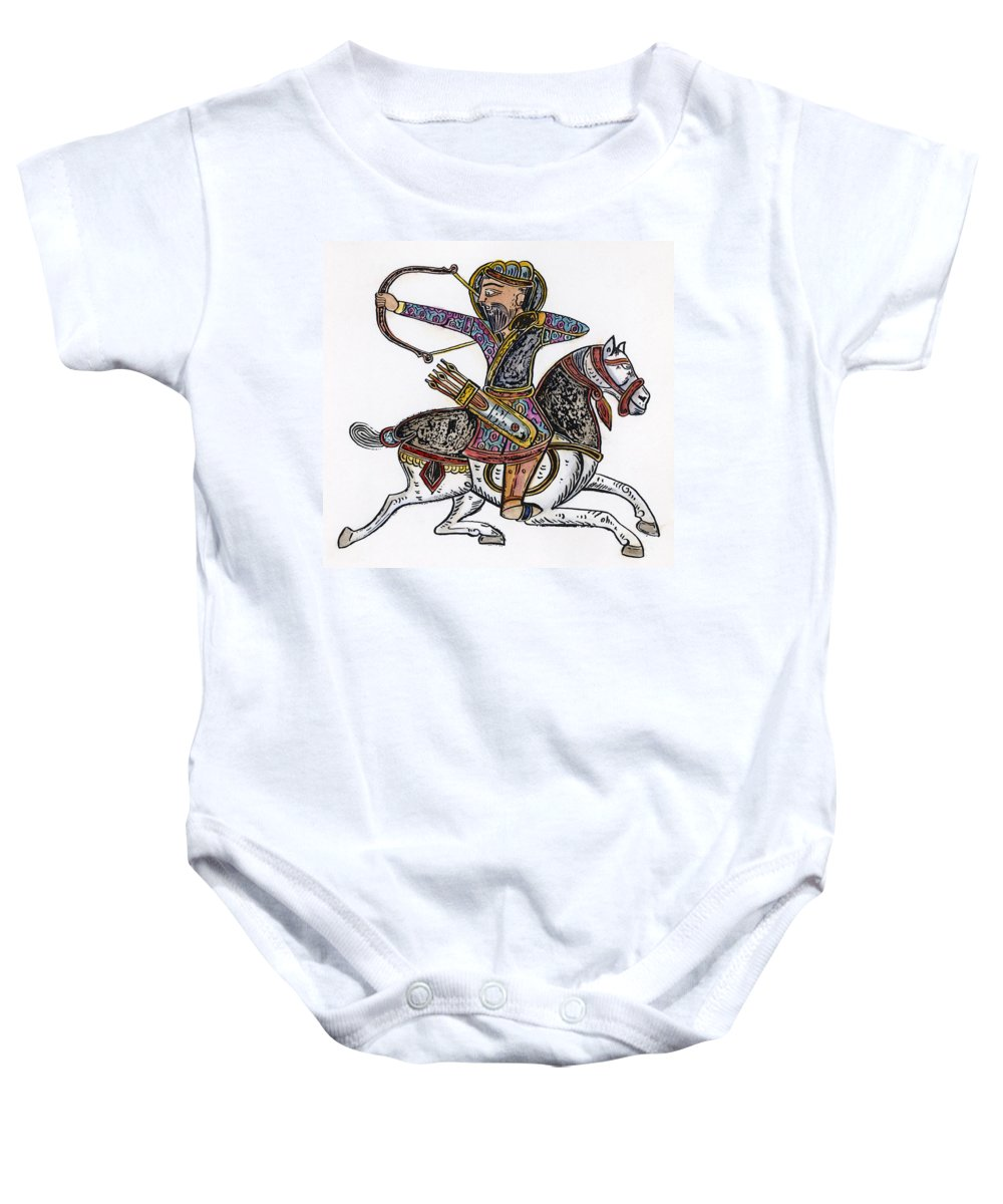 1300 Baby Onesie featuring the photograph Mameluke Archer, C1300 by Granger