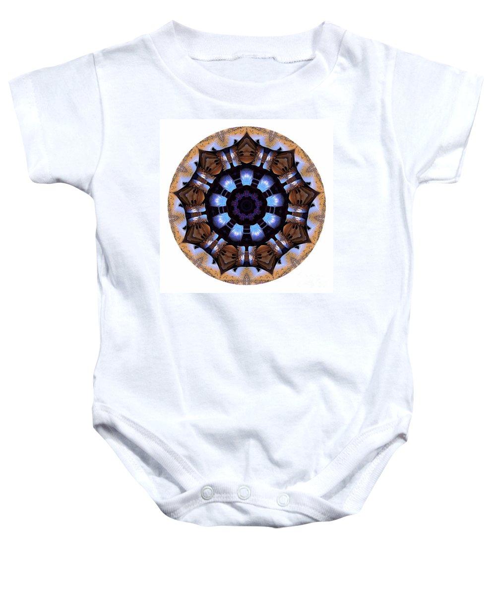 Talisman Baby Onesie featuring the digital art Mandala - Talisman 1396 by Marek Lutek