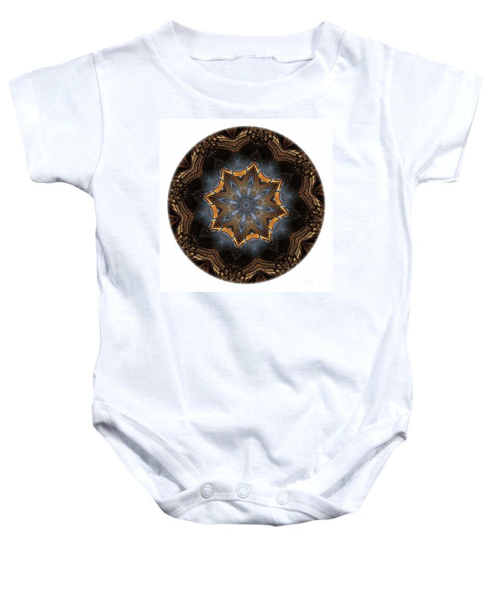 Talisman Baby Onesie featuring the digital art Mandala - Talisman 1444 by Marek Lutek