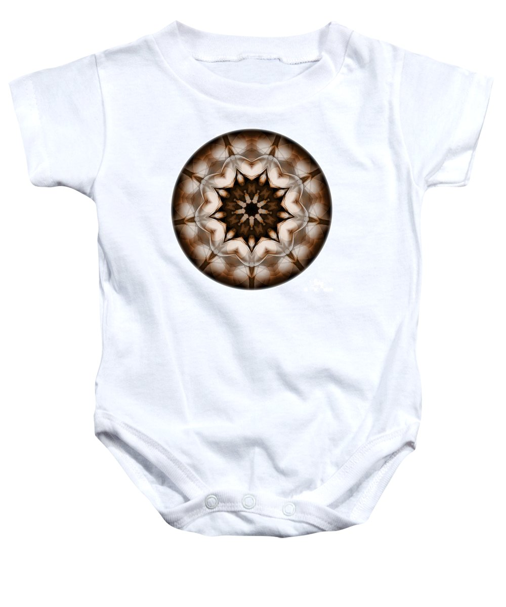 Talisman Baby Onesie featuring the digital art Mandala - Talisman 3701 by Marek Lutek