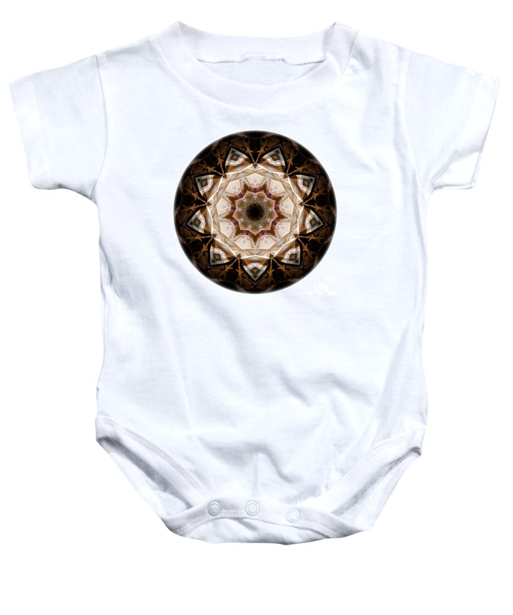 Talisman Baby Onesie featuring the digital art Mandala - Talisman 3707 by Marek Lutek