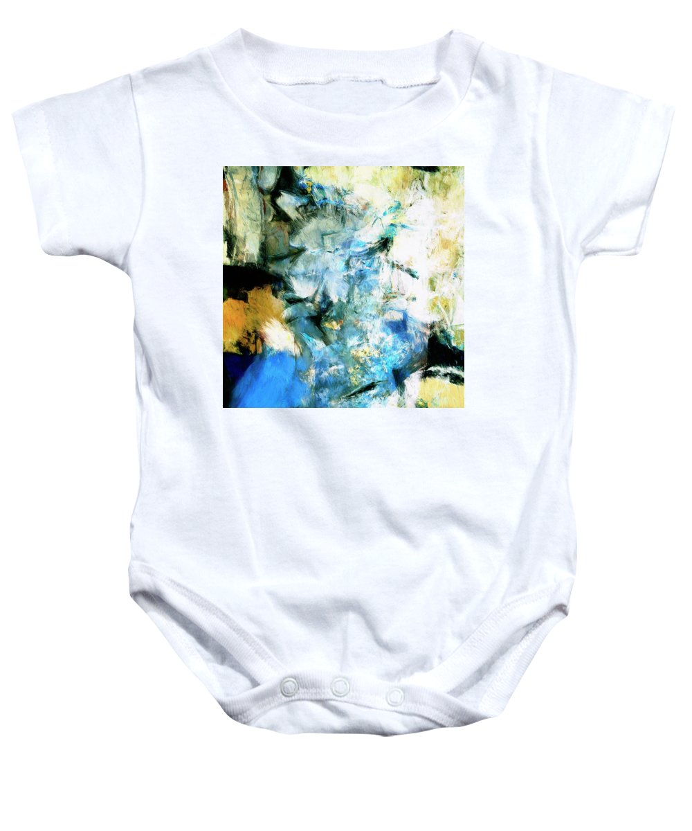 Abstract Baby Onesie featuring the painting Manifestation by Dominic Piperata