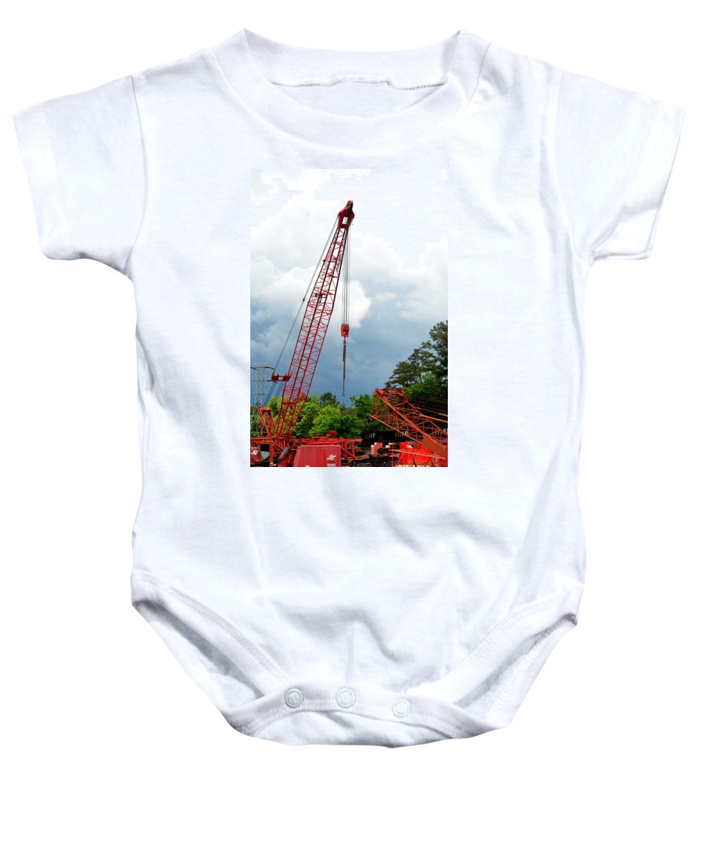 Manitowoc Crane 2015 Baby Onesie featuring the photograph Manitowoc Crane 2015 by Maria Urso