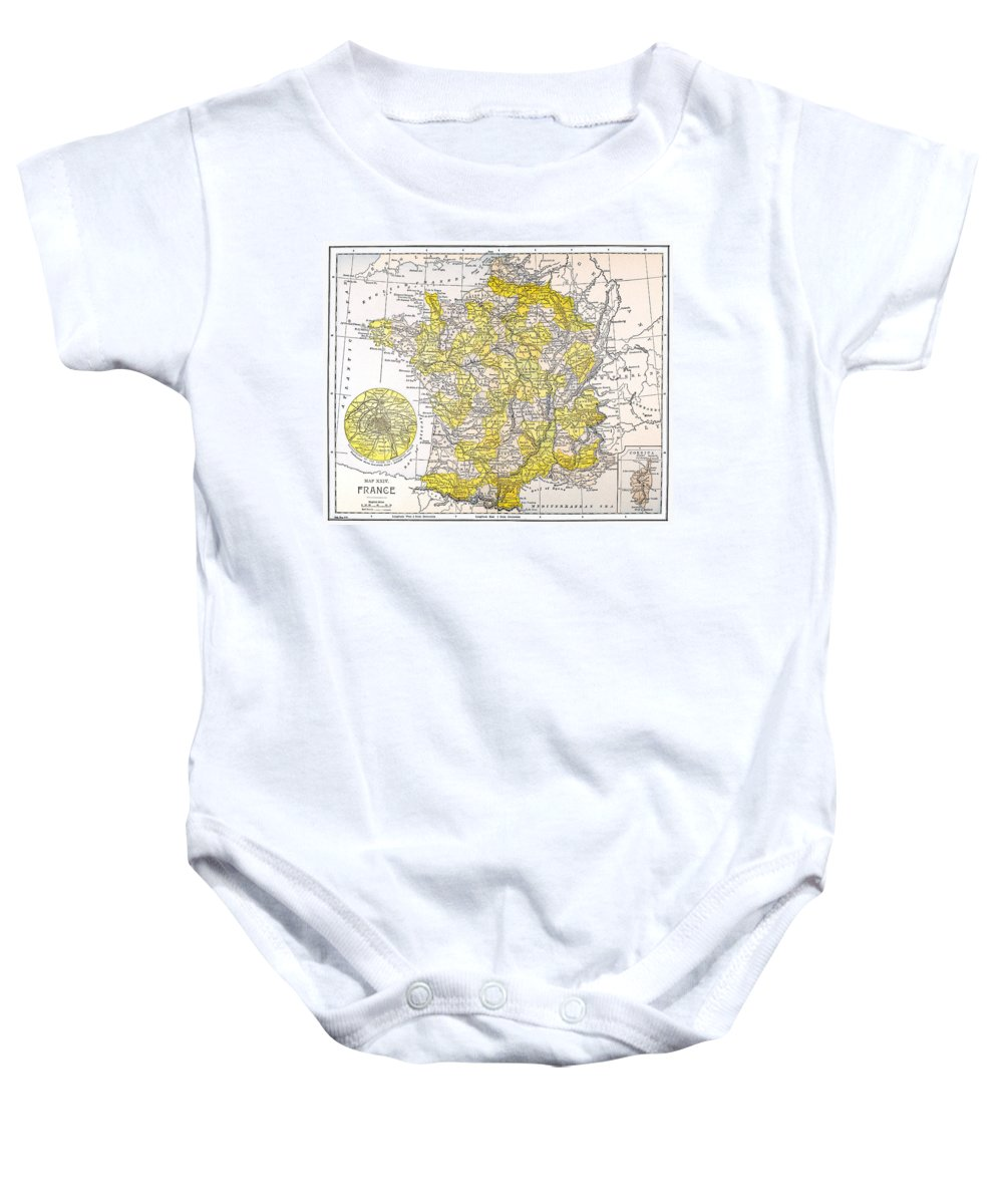 19th Century Baby Onesie featuring the photograph Map: France by Granger