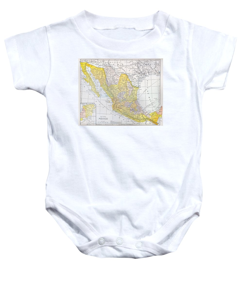 1900 Baby Onesie featuring the photograph Map: Mexico by Granger