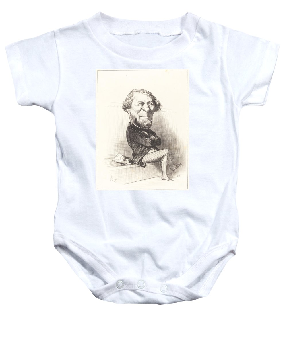 Baby Onesie featuring the drawing Marie Denis Larabit by Honor? Daumier