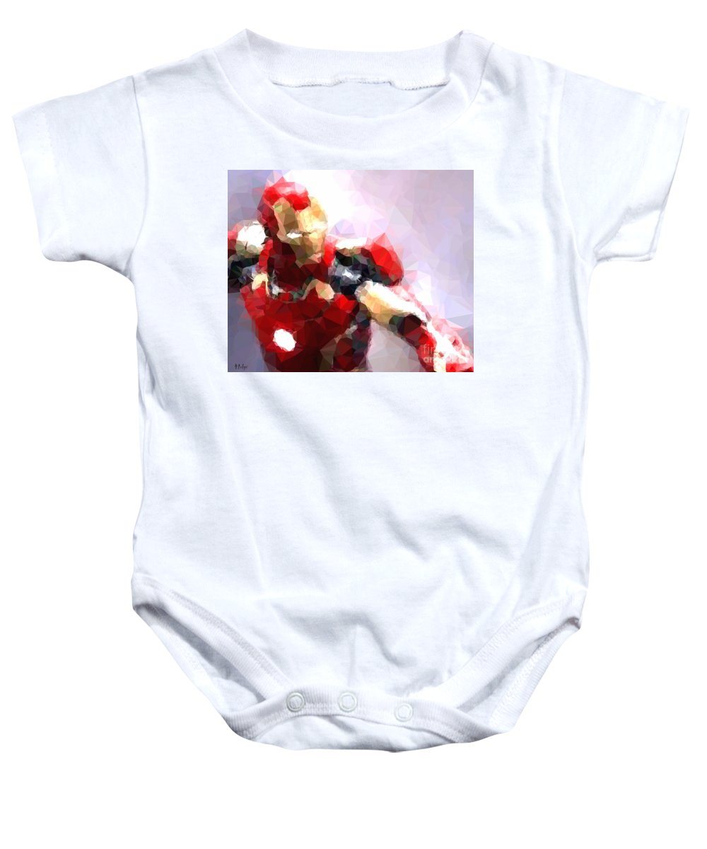 Iron Man Baby Onesie featuring the digital art Mark 43 by Helge