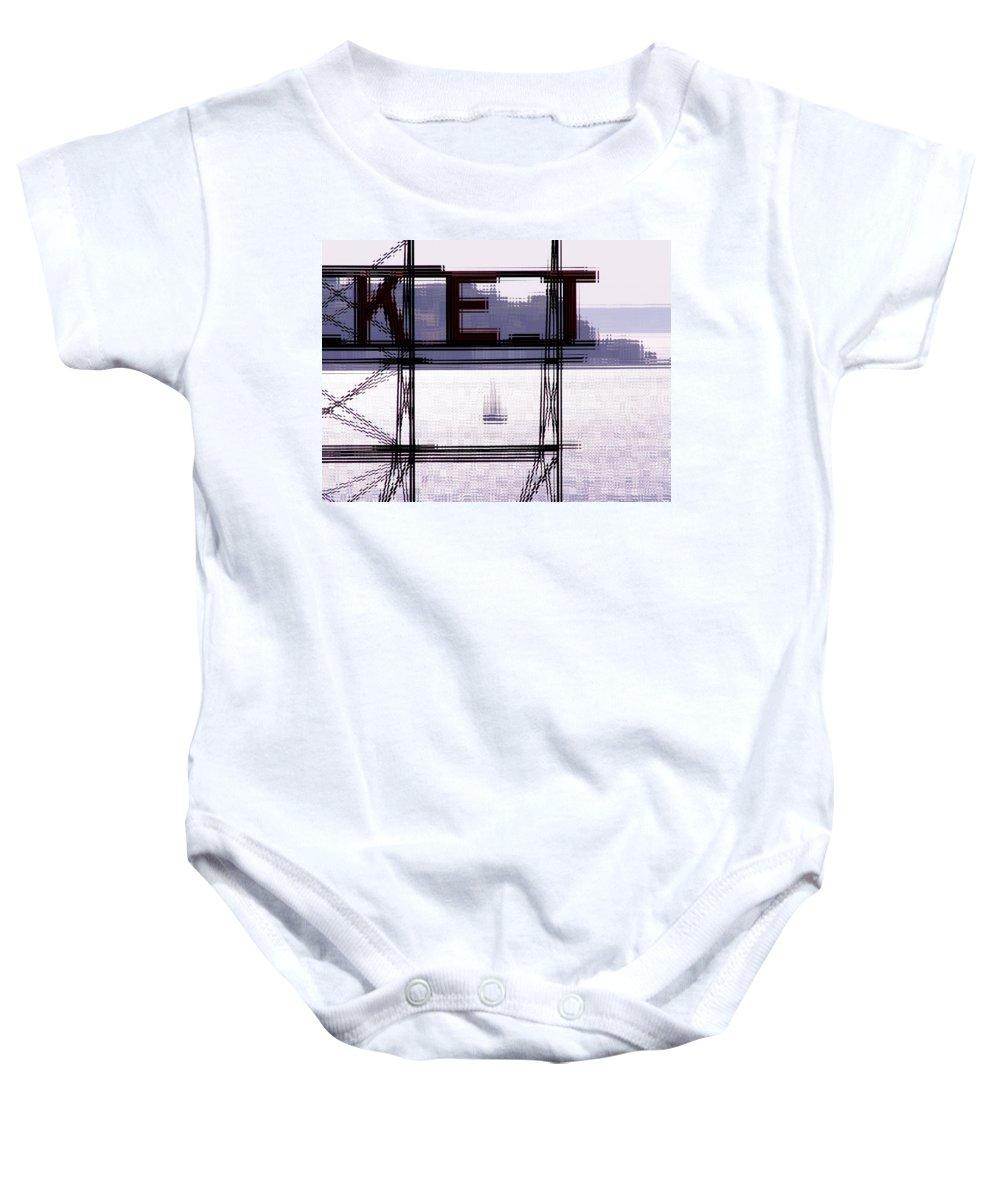 Seattle Baby Onesie featuring the digital art Market Sail by Tim Allen